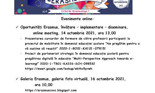 Erasmus Days – CNVS, 2021